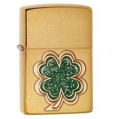 Zippo Shamrock Green and Pocket Lighter
