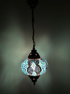 Multicolour Turkish Moroccan Style Mosaic Hanging Lamp Light Hand Made DY306