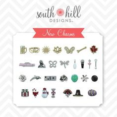 NEW!  See our new Fall charms!  Order at www.southhilldesigns.com/gocharmit!