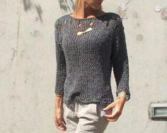 Suéter gris pizarra