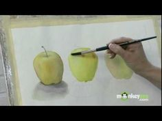 Watercolor Painting - How to Paint Round Objects
