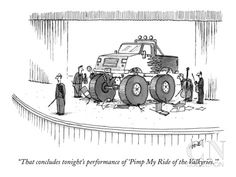 """That concludes tonight's performance of 'Pimp My Ride of the Valkyries.'"" - New Yorker Cartoon by Tom Cheney"