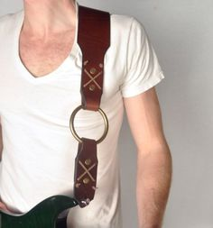 Ring X Leather Guitar Strap