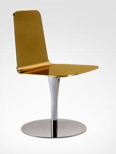 Marco Piva; Aluminum Swivel Chair, 2011.