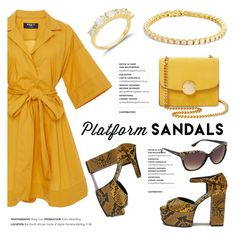 """""""Stand Up! Platform Sandals"""" by blossom-jewels ❤ liked on Polyvore featuring Paule Ka, Mulberry, Marc Jacobs, sandals, platforms, contestentry and Blossomjewels"""
