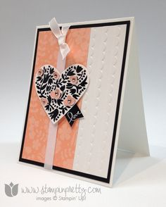 Stampin up stamp it pretty mary fish flowerfull heart valentines day card idea banner blast punch saleabration