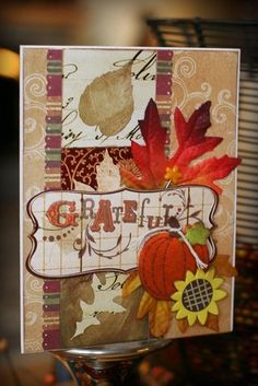 """Grateful"" card by Dianedi"