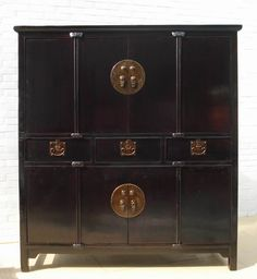 Antique Black Cabinet
