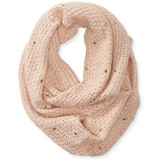 Aeropostale Jingle Stud Infinity Scarf (€11) ❤ liked on Polyvore featuring accessories, scarves, oxford pink, loop scarves, pink scarves, pink oxfords, circle loop scarf and evening shawl