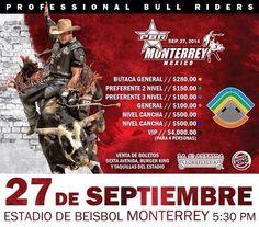 No te pierdas este 27 de Septiembre la gira PBR en el #PalacioSultan, niños mayores de 3 años pagan boleto.