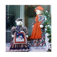 """Holiday Door Greeter Dolls with Clothes Sewing Pattern, 55"""" Snowlady and 40"""" Polar Bear for Christmas Decor UNCUT Simplicity 7882"""