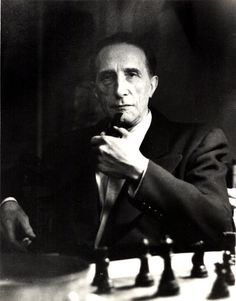 Marcel Duchamp - Retired to play chess