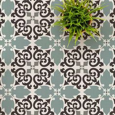 Painting Tile Floors, Painted Floors, Stencil Painting, Tile Stencils, Stenciling, Tile Edge, Cutting Edge Stencils, Stenciled Floor, Floor Stencil
