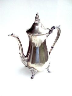 Vintage Silverplate Coffee Pot/Pitcher, , Eales 1779 Sheffield, England cr. 1880s      I take CREDIT CARDS. $38.00, via Etsy. #vintage