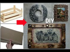 3 ideas for panels from waste and improvised materials! Key Box, Cement Crafts, Ideas Geniales, Youtube, Embellishments, Mixed Media, Decorative Boxes, Make It Yourself, Texture