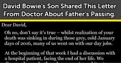 David Bowie's Son Shared This Letter From Doctor About Father's Passing. Wow.