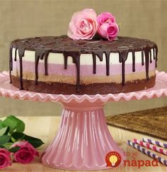 Neapolitan Nutella Cheesecake - Everyone will think that this perfect cake came from a bakery. But it wasn't even baked! Nutella Cheesecake, Cheesecake Recipes, Dessert Recipes, Strawberry Cheesecake, Super Cookies, Cake Cookies, Nutella Cookies, Food Cakes, Cupcake Cakes