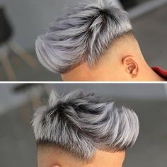 Mens Haircuts Short Hair, Cool Hairstyles For Men, Boy Hairstyles, Platinum Blonde Hair Men, Hair And Beard Styles, Short Hair Styles, Dyed Hair Men, Gents Hair Style, Mens Hair Colour
