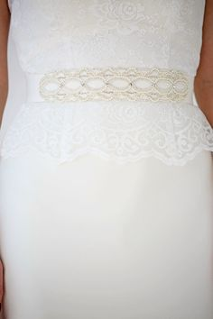 AW-1237 | Wedding Dress Belt | Pearl and Crystal Belt | Charlotte Balbier