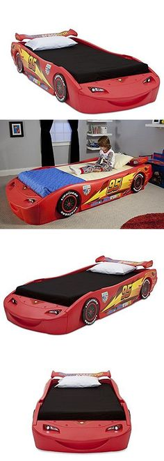 Kids Furniture: Delta Children Cars Lightning Mcqueen Twin Bed With Lights,  Disney/Pixar