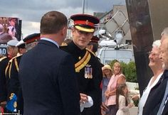 8/4/14.   Prince Harry wore full military dress to attend a service of commemoration in Folkestone, Kent - he unveiled a memorial arch to remember the fallen