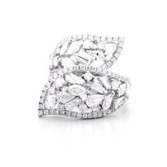 SCATTERED DIAMONDS RING - white gold featuring scattered diamonds in various shape with total carat weight diamonds. Diamond Rings, Mystery, Diamonds, Delicate, White Gold, Shapes, Jewellery, Band, Jewels