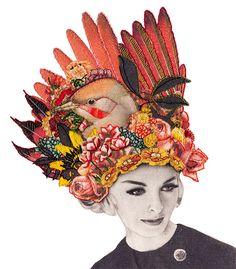 As colagens artesanais e vintage costuradas por Laura Mckellar