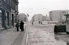 Friedrichstrasse at Checkpoint Charlie, Berlin, 28 August 1962 | by allhails