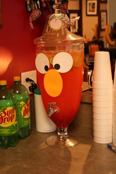 This would be great for my nephew Deremy's 2nd Birthday Party....Elmo punch