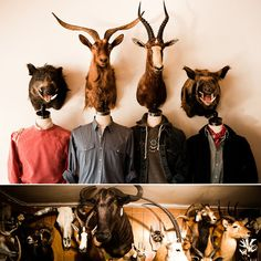 taxidermy. That would be funny at the front door for a coat rack ~!~