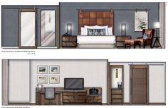 Home Decoration Design Ideas Interior Architecture Drawing, Interior Design Renderings, Interior Design Classes, Drawing Interior, Interior Rendering, Interior Sketch, Architecture Design, Bed Design, House Design
