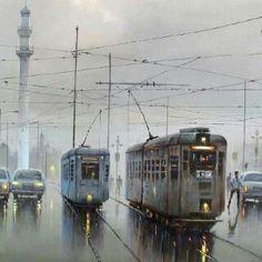 A rainy morning in Kolkata