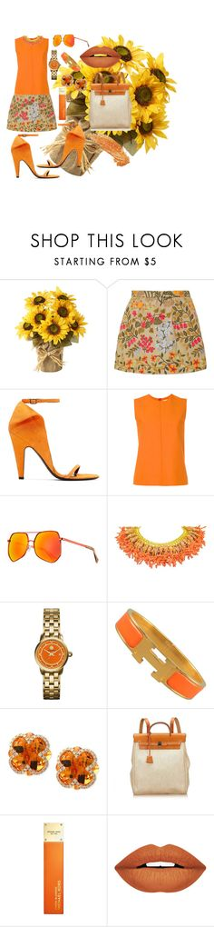 """GIRASOL"" by grettelcabrera on Polyvore featuring moda, RED Valentino, Calvin Klein 205W39NYC, Victoria, Victoria Beckham, Grey Ant, Tory Burch, Hermès, Effy Jewelry, Michael Kors y Forever 21"
