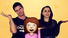 Mae Whitman and Robbie Amell reenact 'The Duff' with emojis