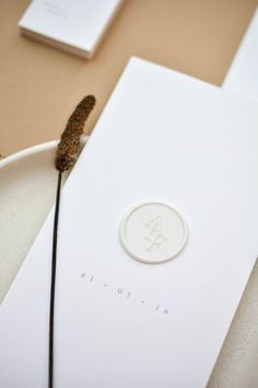 Minimalistic Marriage ceremony Invitation White Wax Seal Typeface F Minimalist Wedding Invitations, Simple Wedding Invitations, Wedding Invitation Design, Wedding Stationary, Graphic Design Invitation, Invites, Wedding Pins, Wedding Cards, Wedding Details