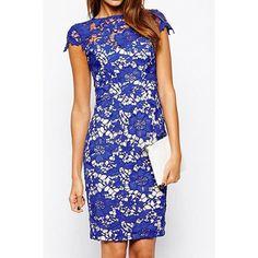 Crocheted in Blue Dress