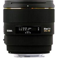 Sigma   85mm f/1.4 EX DG HSM Lens For Nikon Digital SLR Cameras USA. A LOTcheaper than the Nikon counterpart.