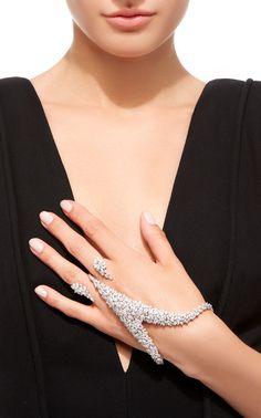 18K White Gold and Diamond Ring by YEPREM Now Available on Moda Operandi
