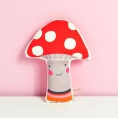 "#baby #rattle ""Mr Mushroom""   Pinknounou"