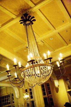 Crystal chandelier {Photo by Andrew Weeks Photography} Wedding Reception Lighting, Wedding Songs, Vintage Weddings, Bridal Accessories, Wedding Flowers, Studios, Wedding Planning, Wedding Decorations, Wedding Inspiration