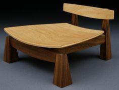 .Low meditation chair.