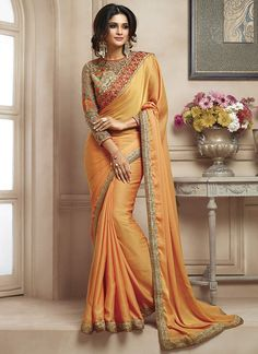 Buy Brown Georgette Latest Designer Saree with Price at Variation Fashion, One of the Best Online Saree Shopping Sites. Huge range of Indian Saris and Designer Sarees Online Sale. Shipping Worldwide Including USA, UK and Canada. Satin Saree, Chiffon Saree, Silk Sarees, Indian Dresses, Indian Outfits, Indian Clothes, Indian Attire, Lehenga Choli, Anarkali