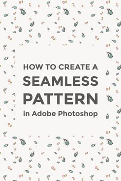 Follow this easy tutorial to turn your drawing or clip-art into a seamless pattern using Adobe Photoshop.