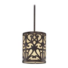 Minka Lighting Mini-Pendant Light with Beige / Cream Glass | 1491-357 | Destination Lighting