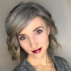 Gray Hair Growing Out, Grow Hair, Charcoal Hair, Pretty Nose, Going Gray Gracefully, Grey Hair Inspiration, Amazing Grays, Transition To Gray Hair, Ash Hair