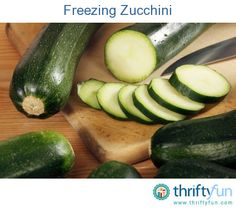 This is a guide about freezing zucchini.  Storing a bumper crop of garden zucchini in the freezer is a great way to preserve it for cooking in the cold winter months.