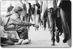I think we all have the potential to end up homeless so we cannot afford to judge. It's such a sad thing when life gets this bad. We are all the same, we are all just as vulnerable as the next person.