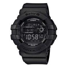 Reeds Jewelers - Ladies Casio Baby-G Digital Matte Black Resin Watch