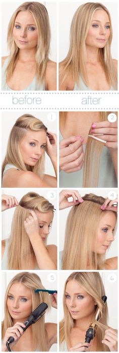 This shows how perfectress pre taped extensions are applied and tape in hair extension tutorial pmusecretfo Image collections