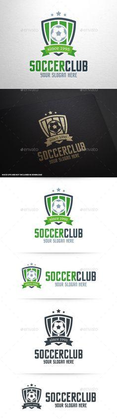 Soccer Club Logo Template #design #logotype Download: http://graphicriver.net/item/soccer-club-logo-template/11140029?ref=ksioks